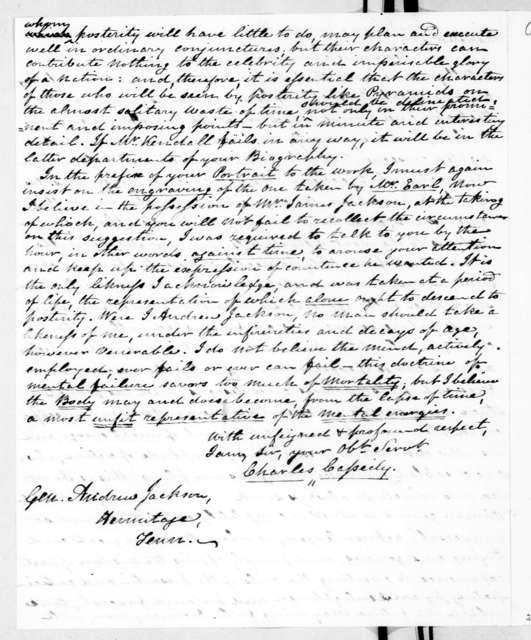 Charles Cassedy to Andrew Jackson, May 25, 1840