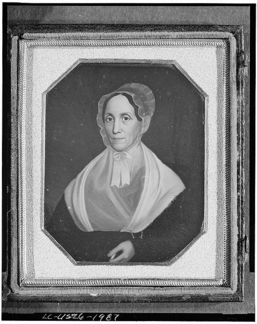 [Copy of a painting of an unidentified woman, head-and-shoulders portrait]