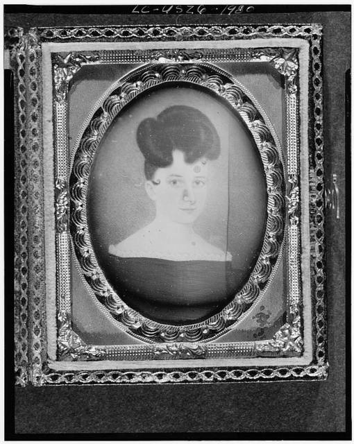 [Copy of a painting of an unidentified woman, head-and-shoulders portrait, full face]