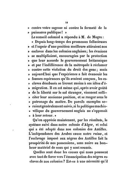 Esclavage de la race noire aux colonies françaises /