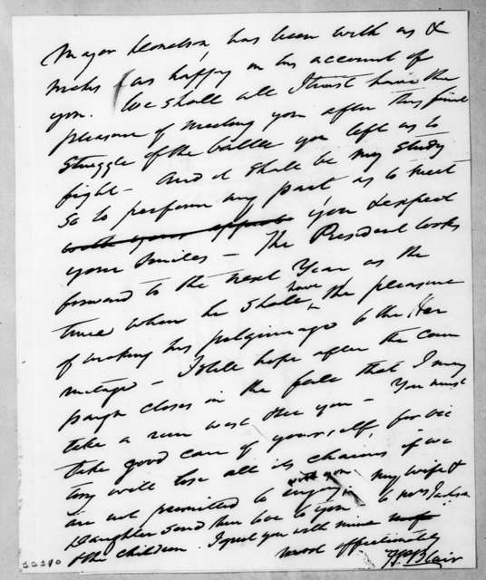 Francis Preston Blair to Andrew Jackson, March 17, 1840