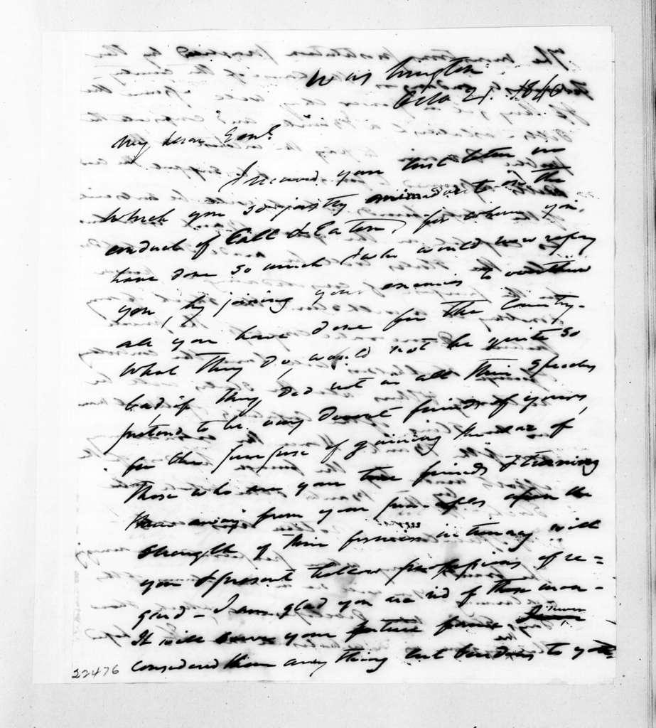 Francis Preston Blair to Andrew Jackson, October 21, 1840