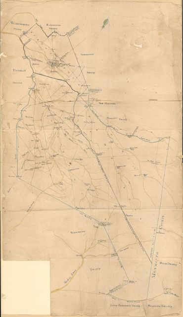 [General-content map of several townships in the southern part of Burlington County, N.J.]