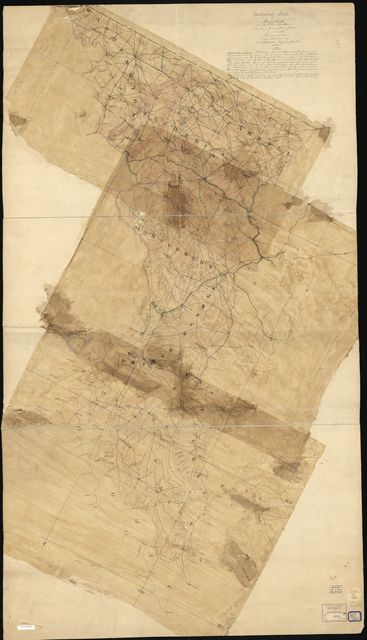 Geological map of Maryland on which are also shewn the chief topographical features to aid in the triangulation.