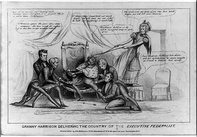 Granny Harrison delivering the country of the executive Federalist