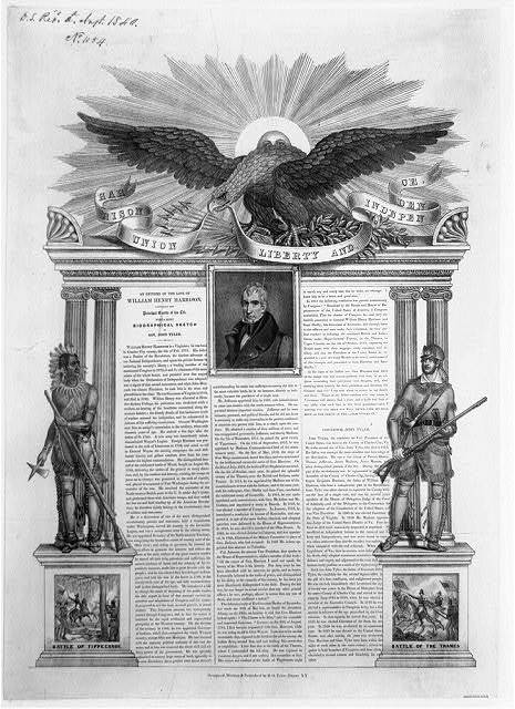 Harrison, union, liberty, and independence / designed, written & published by B.O. Tyler, Albany, N.Y.