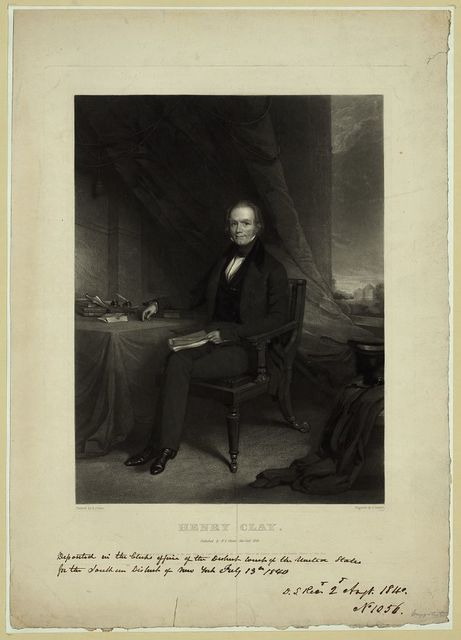 Henry Clay / painted by G. Linen ; engraved by J. Sartain. Philada.