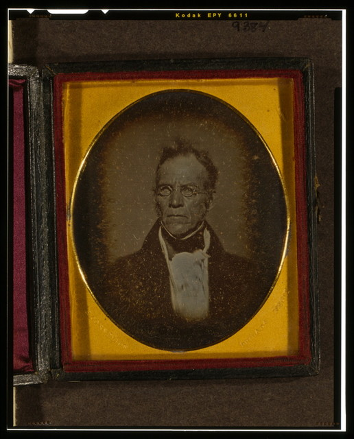 [Isaiah Lukens, head-and-shoulders portrait, facing left]