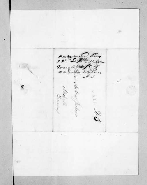 J. C. Eckert et al. to Andrew Jackson, September 7, 1840
