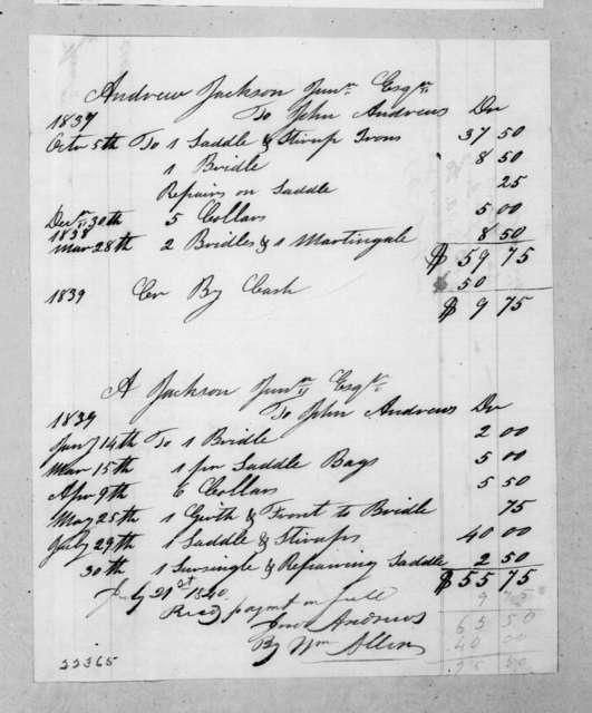 John Anderson to Andrew Jackson, Jr., July 21, 1840