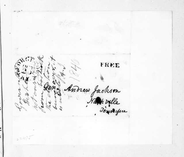Joseph Desha to Andrew Jackson, October 18, 1840