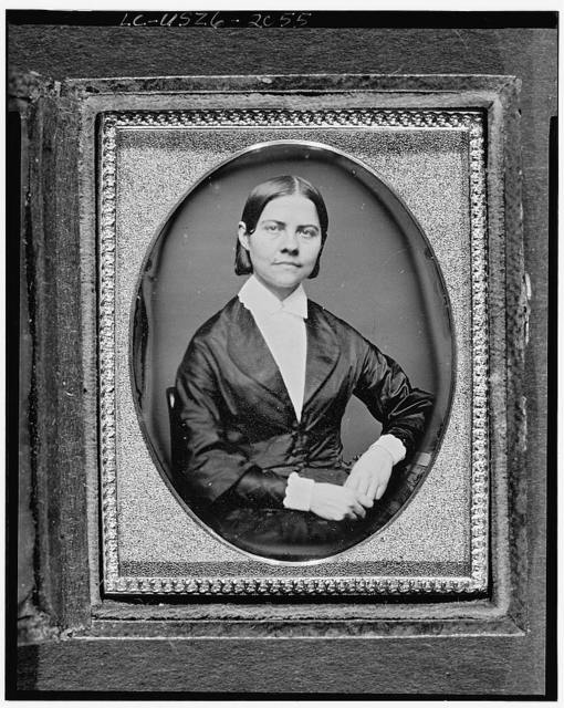 [Lucy Stone, half-length portrait of a woman, seated, facing front]
