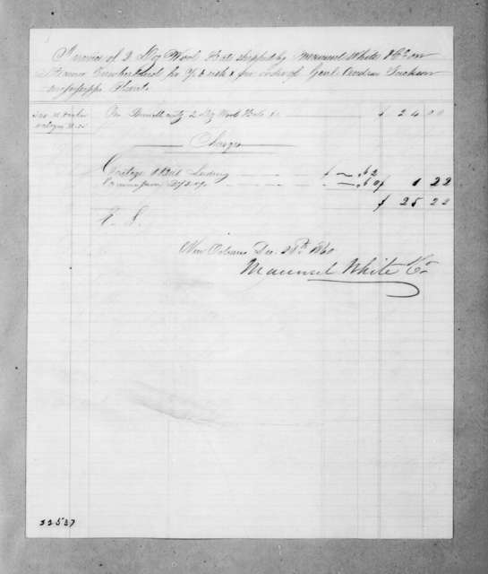 Maunsel White & Co. to Andrew Jackson, December 28, 1840