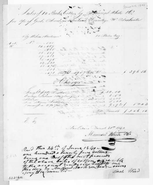 Maunsel White & Co. to Andrew Jackson, June 24, 1840