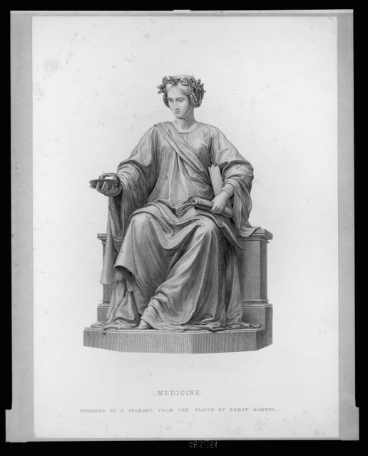 Medicine / engraved by G. Stodart from the statue by Ernst Hähnel.