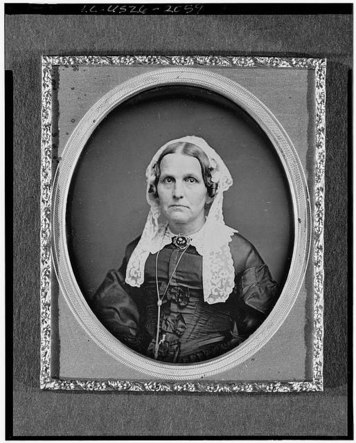 [Mrs. Miller, head-and-shoulders portrait of a woman, facing front]