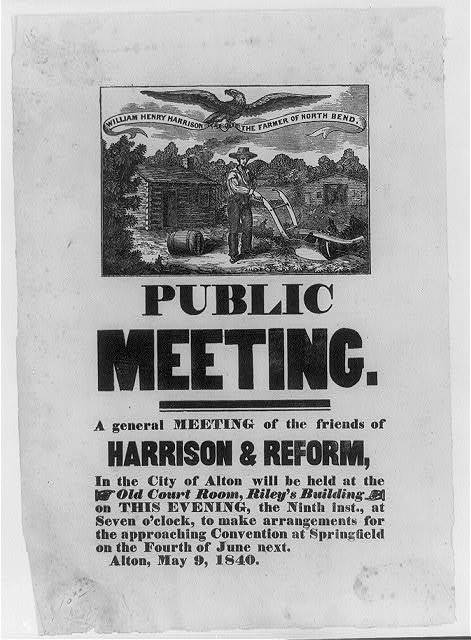Public meeting. A general meeting of the friends of Harrison & reform . . .