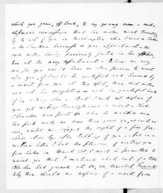Richard Rush to Andrew Jackson, May 26, 1840