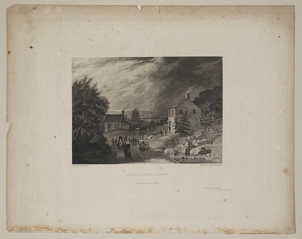 School house, Tappan / painted by Robert W. Weir ; engraved on steel by James Smillie.