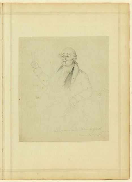 Sketch from a cabinet picture by Gibert taken in 1843 by A.J.S.