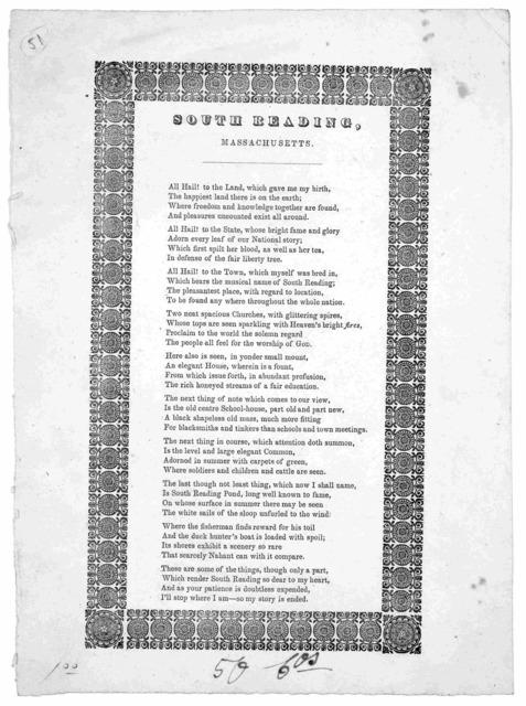 South Reading, Massachusetts [1840?].