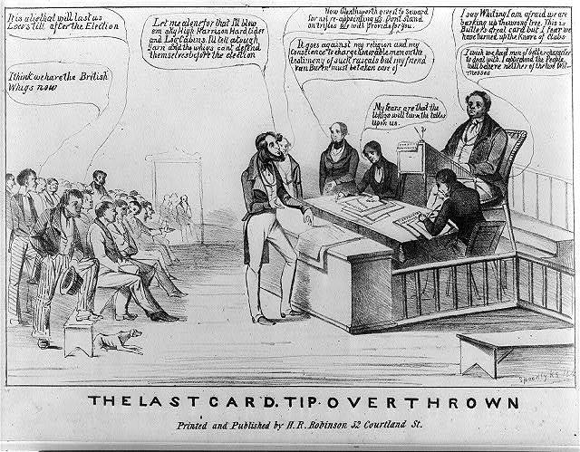 The last card. Tip overthrown