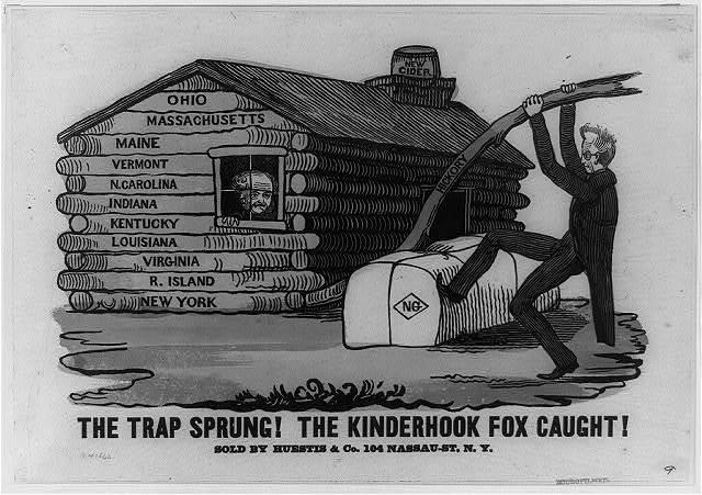 The trap sprung! The kinderhook fox caught!
