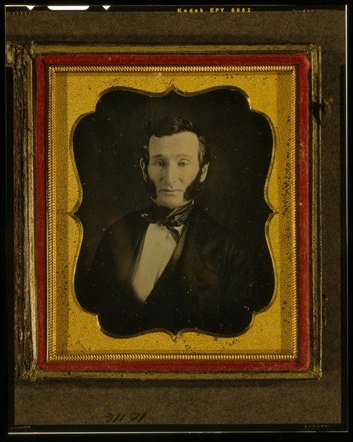 [Unidentified man, possibly John Bannister Gibson, head-and-shoulders portrait, facing front]