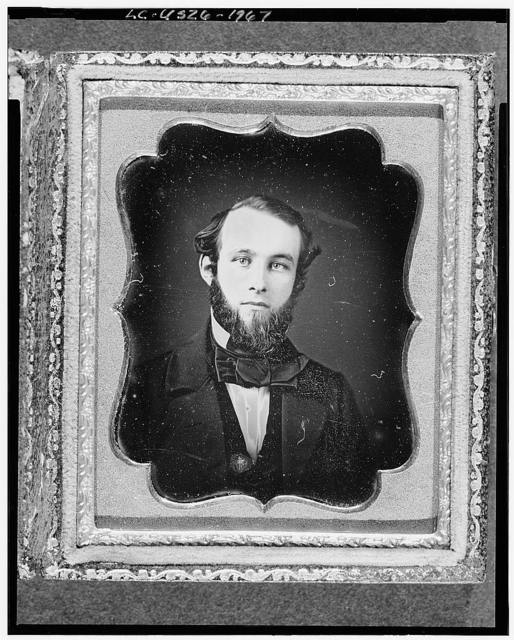 [Unidentified man, possibly Lyman Fiske, head-and-shoulders portrait, full face]