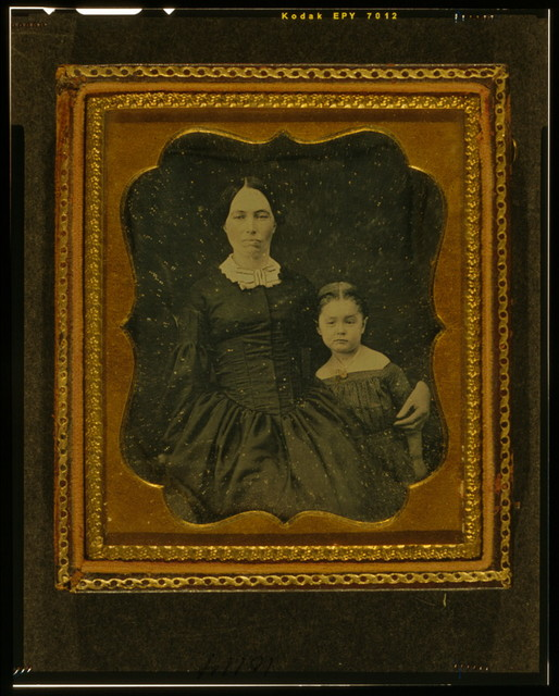 [Unidentified woman and girl]