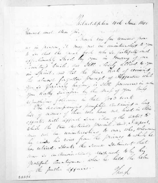 William V. Pettit to Andrew Jackson, June 4, 1840