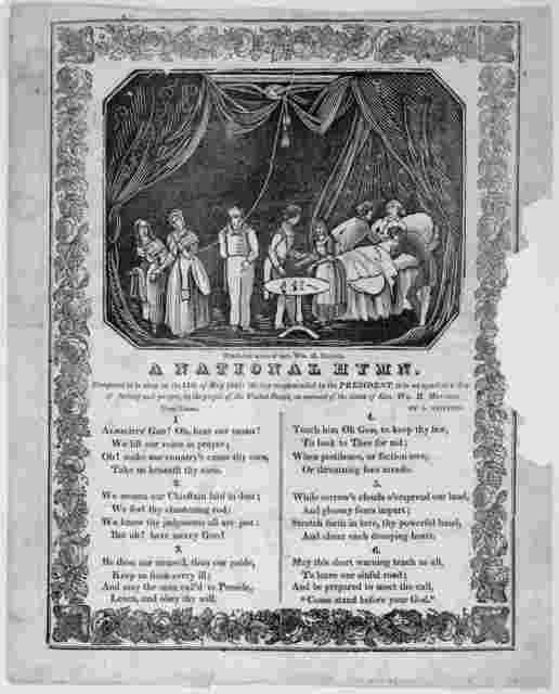 A national hymn. Composed to be sung on the 14th of May 1841; the day recommended by the President, to be set apart as a day of fasting and prayer, by the people of the United States, on account of the death of Gen. Wm. H. Harrison by L. Griffin