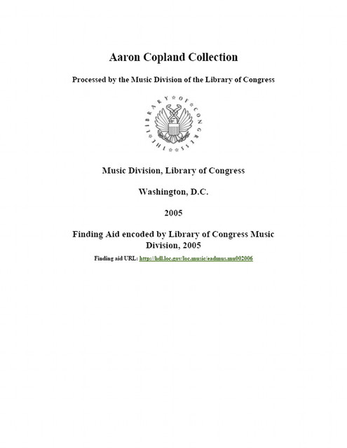 Aaron Copland collection