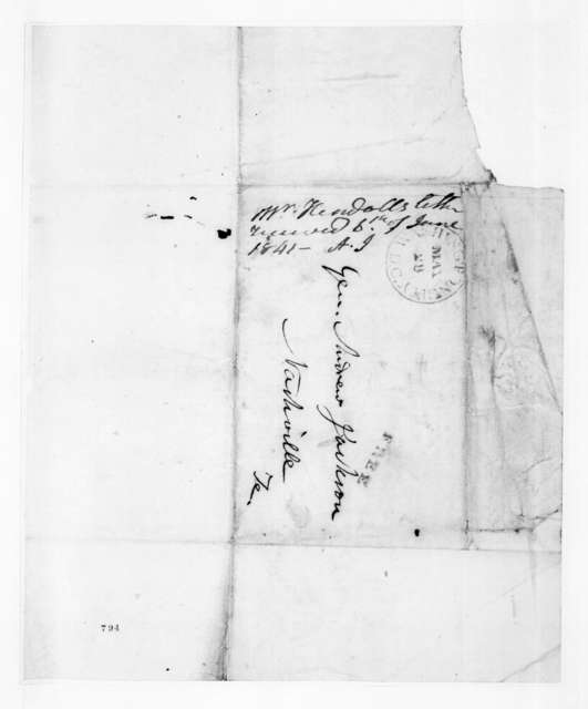 Amos Kendall to Andrew Jackson, June 6, 1841