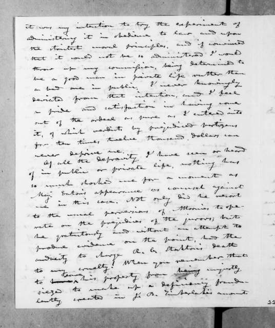 Amos Kendall to Andrew Jackson, May 5, 1841