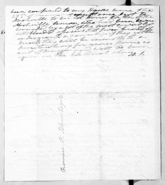 Andrew Jackson to Francis Preston Blair
