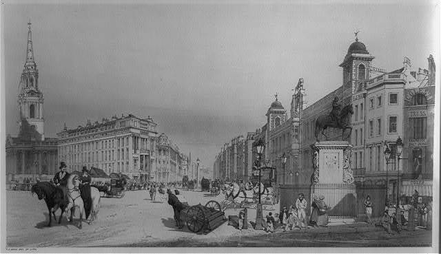 Entry to the Strand from Charing Cross / T.S. Boys, del. et lith.