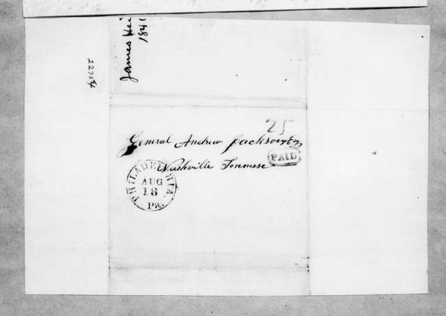 James Heiss to Andrew Jackson, August 16, 1841