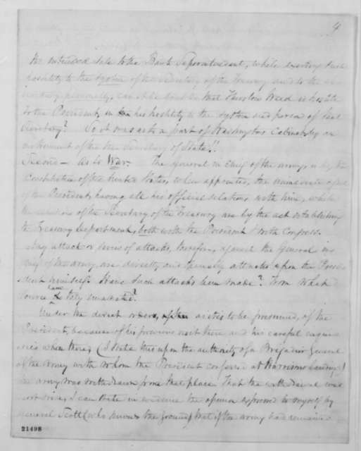 John C. Hamilton to Abraham Lincoln, Monday, February 02, 1863  (Political and military advice; with copy of letter from Peter B. Porter to Henry Clay, January 28, 1841)