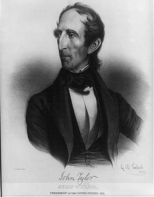 John Tyler, President of the United States, 1841. Born 29th day of March 1790 / from life on stone by Chs. Fenderich 1841.