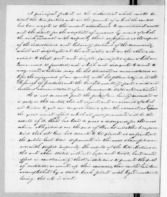 Samuel Harker to Andrew Jackson, October 15, 1841