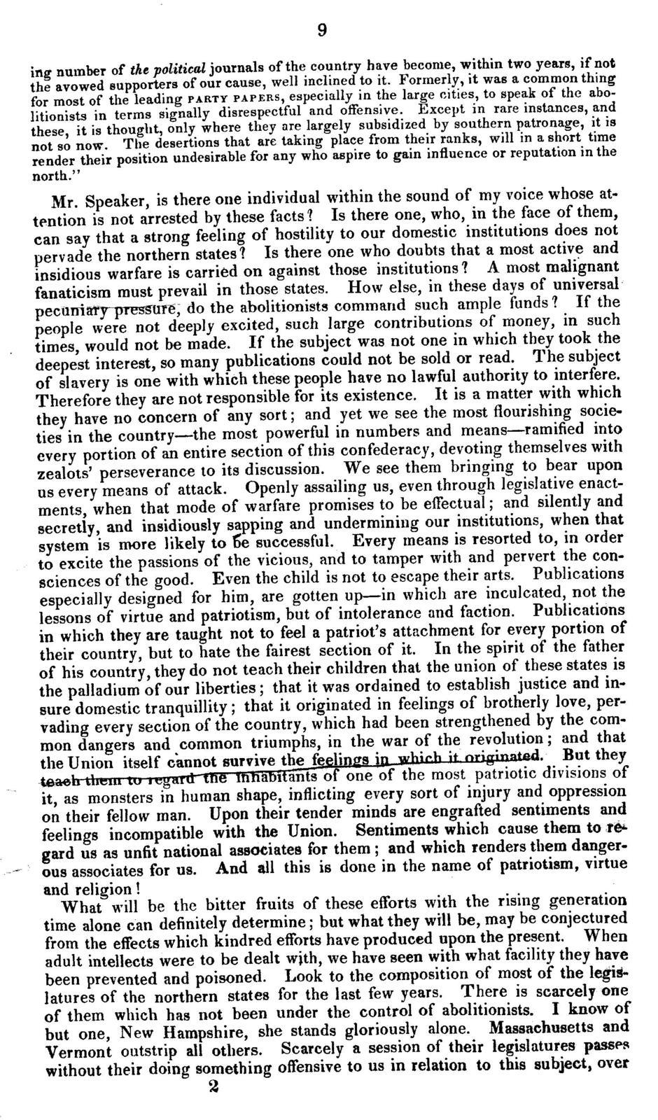Speech of Mr. Bayly of Accomack, on the bill to prevent citizens of New York from carrying slaves out of this commonwealth, and to prevent the escape of persons charged with the commission of any crime, and in reply to Mr. Scott of Fauquier, delivered in the House of delegates of Virginia, on the 25th and 26th of February 1841. Published by members of the Senate and House of delegates.