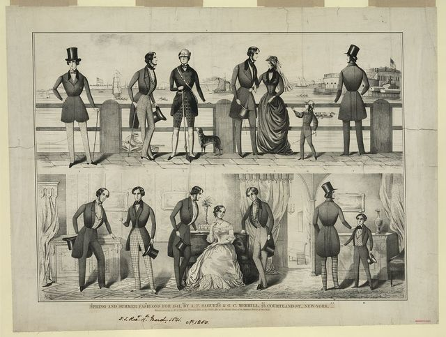 Spring and summer fashions for 1841, by A.F. Saguezs & G.C. Merrill, 25 Courtland-St., New-York, agents / H.D.