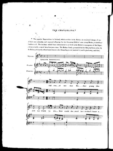 The  changeling, ballad