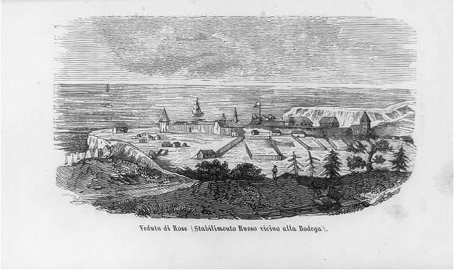 Veduta di Ross stabilimento Russo vicino alla Bodega