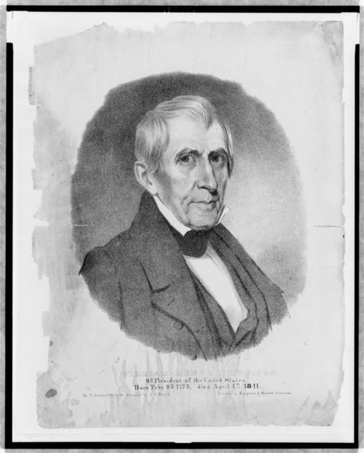 William Henry Harrison, 9th President of the United States. Born Febr. 9th, 1773, died April 4th, 1841 / by T. Campbell from the original by J.H. Beard ; printed by Klauprech & Menzel, Cincinnati.