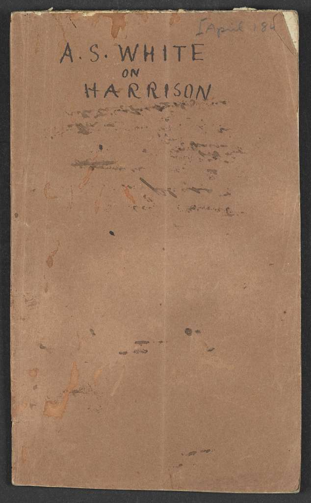William Henry Harrison Papers: Series 4, Printed Matter, 1815-1922; Subseries B, Pamphlets Concerning Harrison; 1841 , 5 items