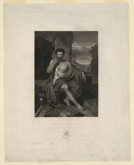 Caius Marius on the ruins of Carthage / J. Vanderlyn pt. ; S.A. Schoff sc.