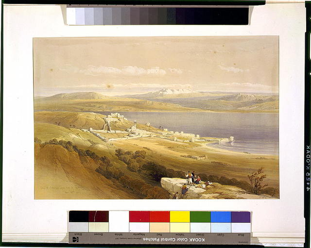 City of Tibarias (i.e., Tiberias) on the Sea of Galilee April 22nd 1839 / David Roberts, R.A.