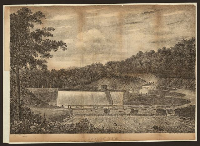 Croton Dam / drawn for D.T. Valentine ; drawn & lithd. by G. Hayward.
